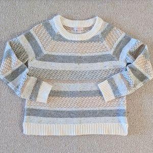 Merona Neutral Alpine Crewneck Sweater, Size - M